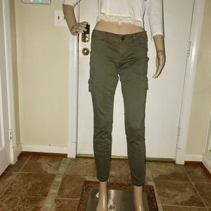 Pants - Olive Army Green Cargo Skinny Trouser Pants